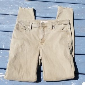 Madewell high-rise skinny jeans 31
